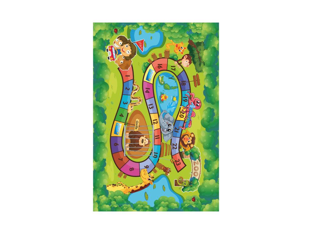Koberec, detský vzor ZOO, 130x200, ZOAN
