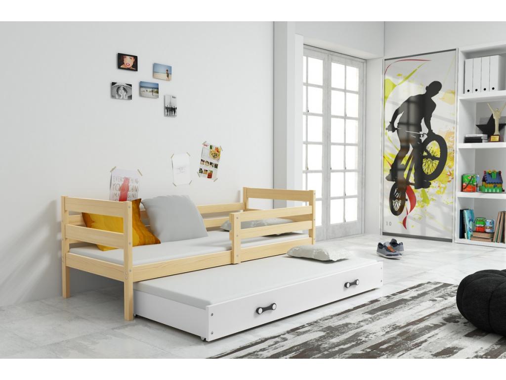 detska jednolozkova postel s pristelkou ERYK BOROVICA BIELA