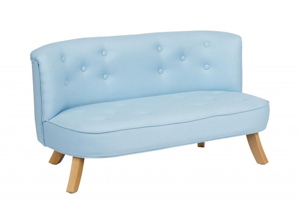 Luxusná detská pohovka Eco Linen - Blue