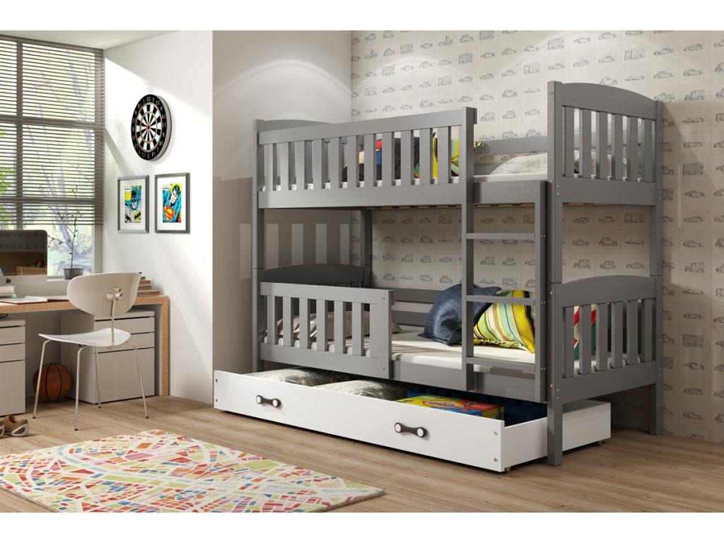 Detská poschodová posteľ Kubuš biela
