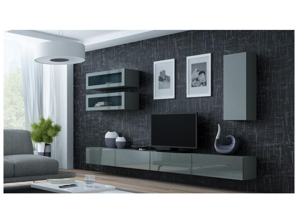 Obývacia stena VIGO 11 sivá sivá