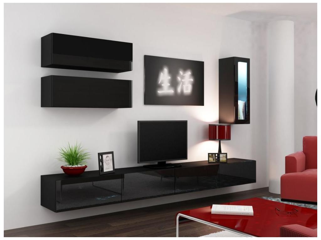 Obývacia stena VIGO 12 čierna čierna