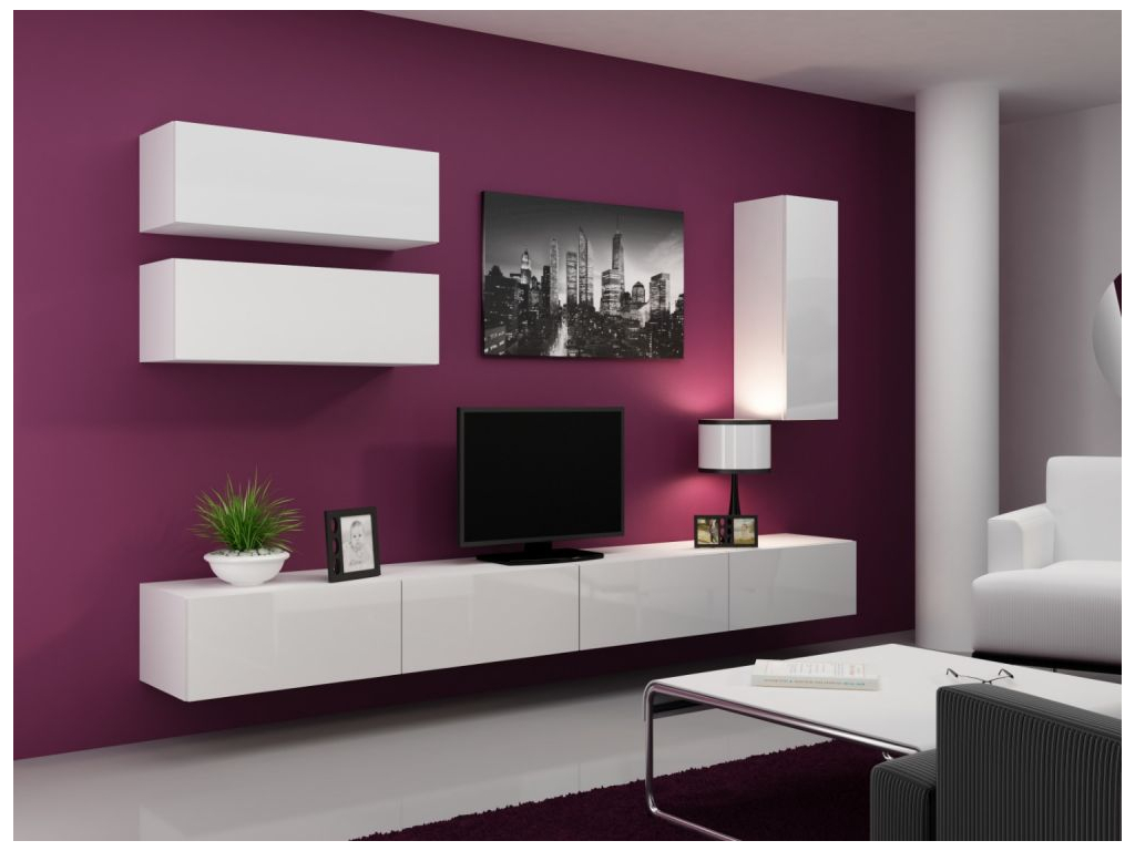 Obývacia stena VIGO 13 biela biela