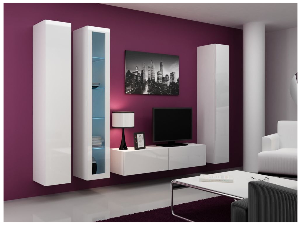 Obývacia stena VIGO 15 biela biela