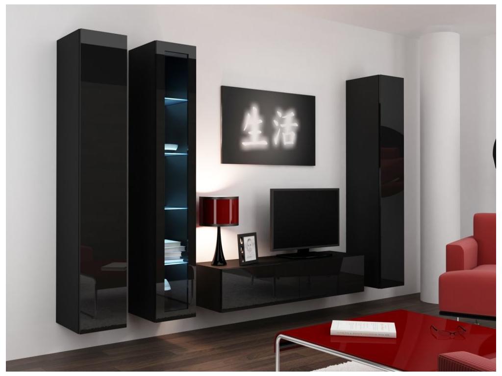 Obývacia stena VIGO 15 čierna čierna