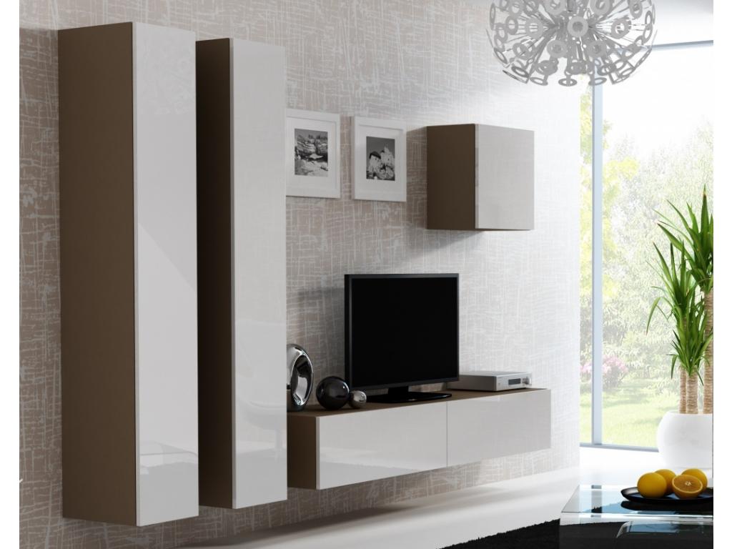 Obývacia stena VIGO 25 latté biela