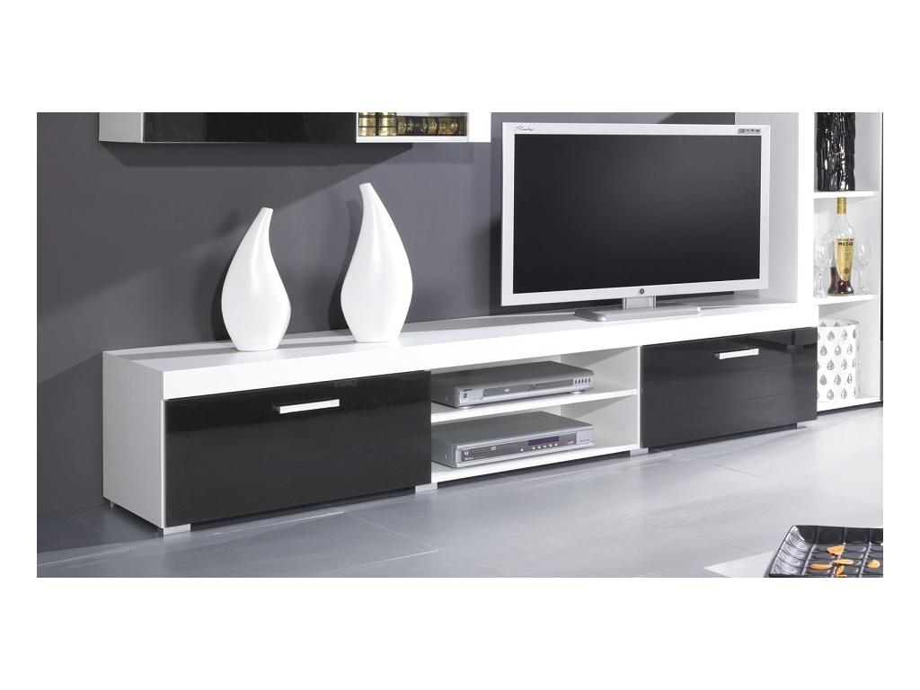 TV stolik Samba biela čierna