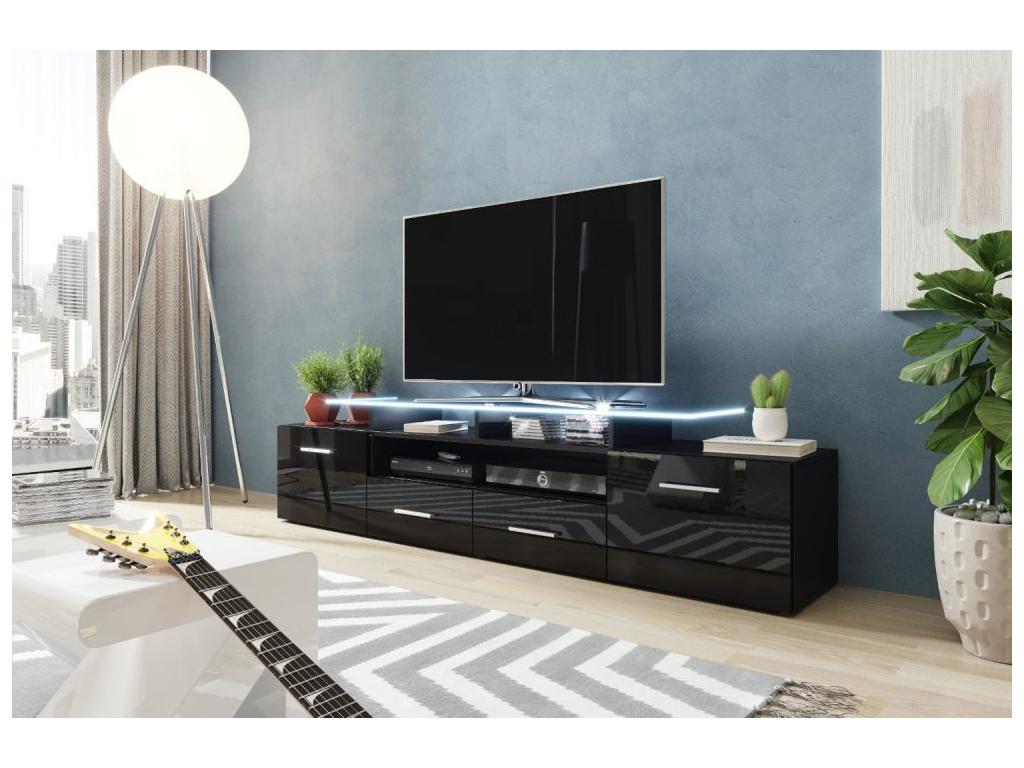 TV stolík EVORA čierna čierna