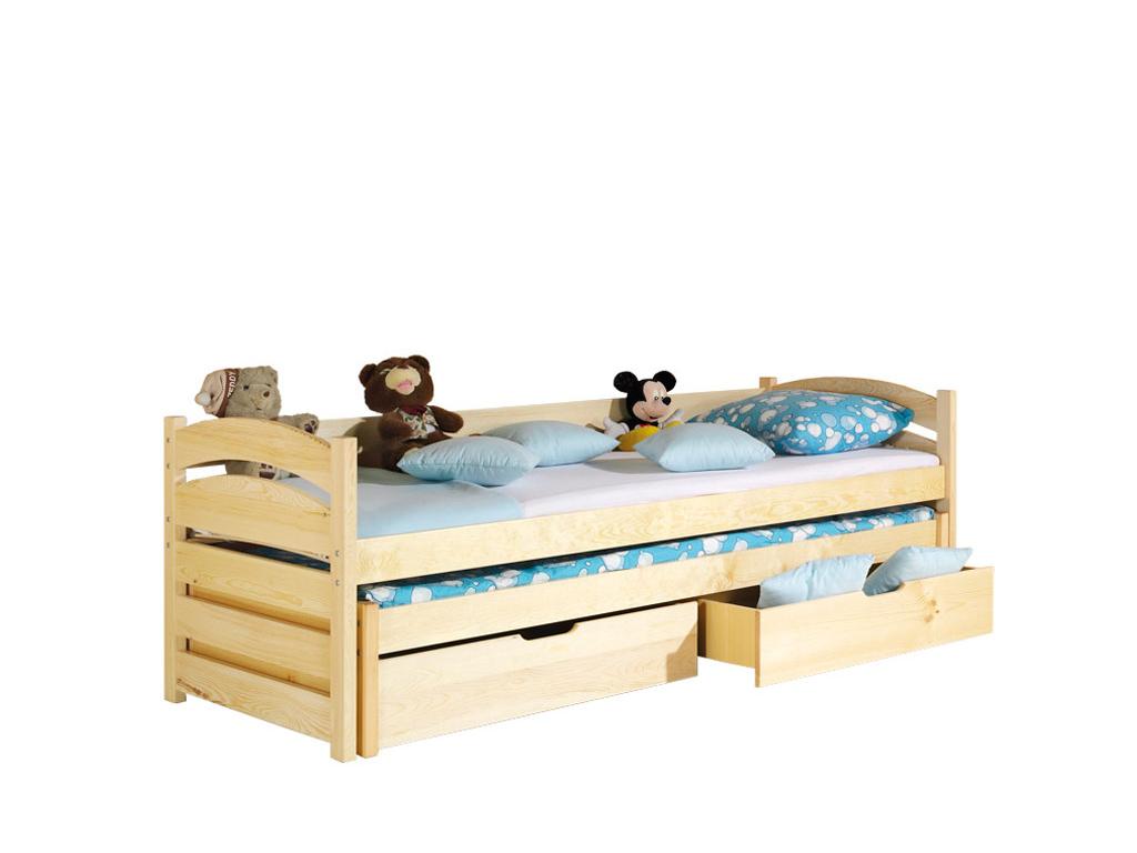 detska drevena jednolozkova postel TOLEK