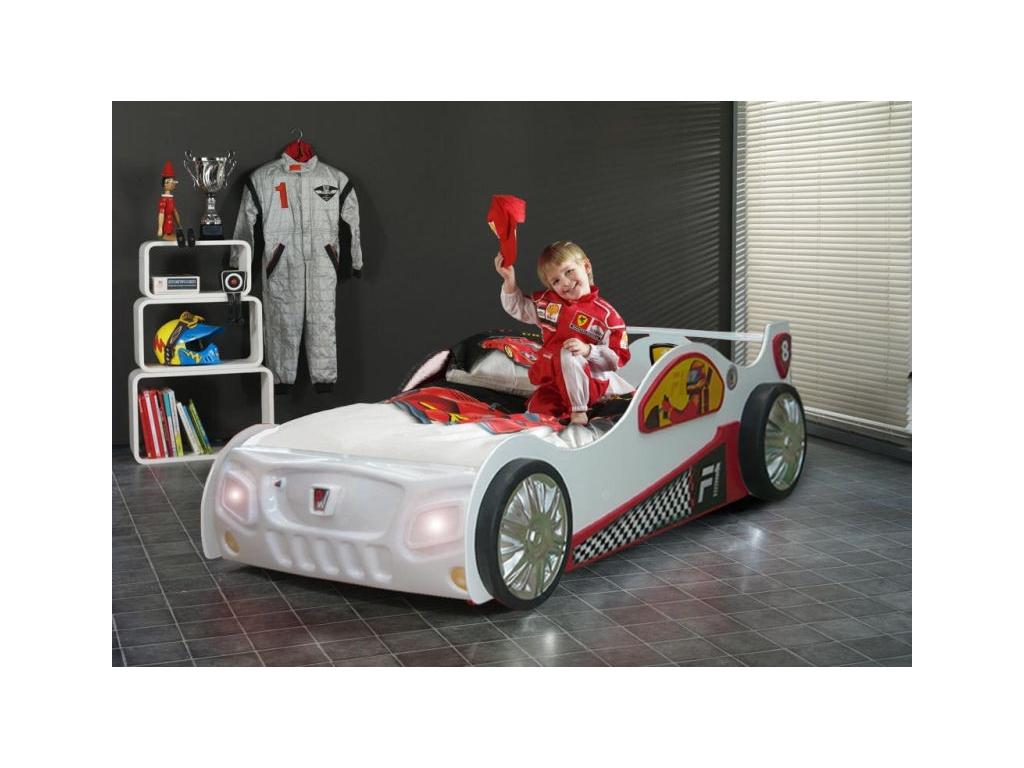 Detská posteľ formulka Monza biela