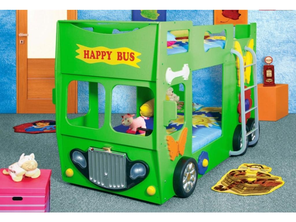Happy bus zelený