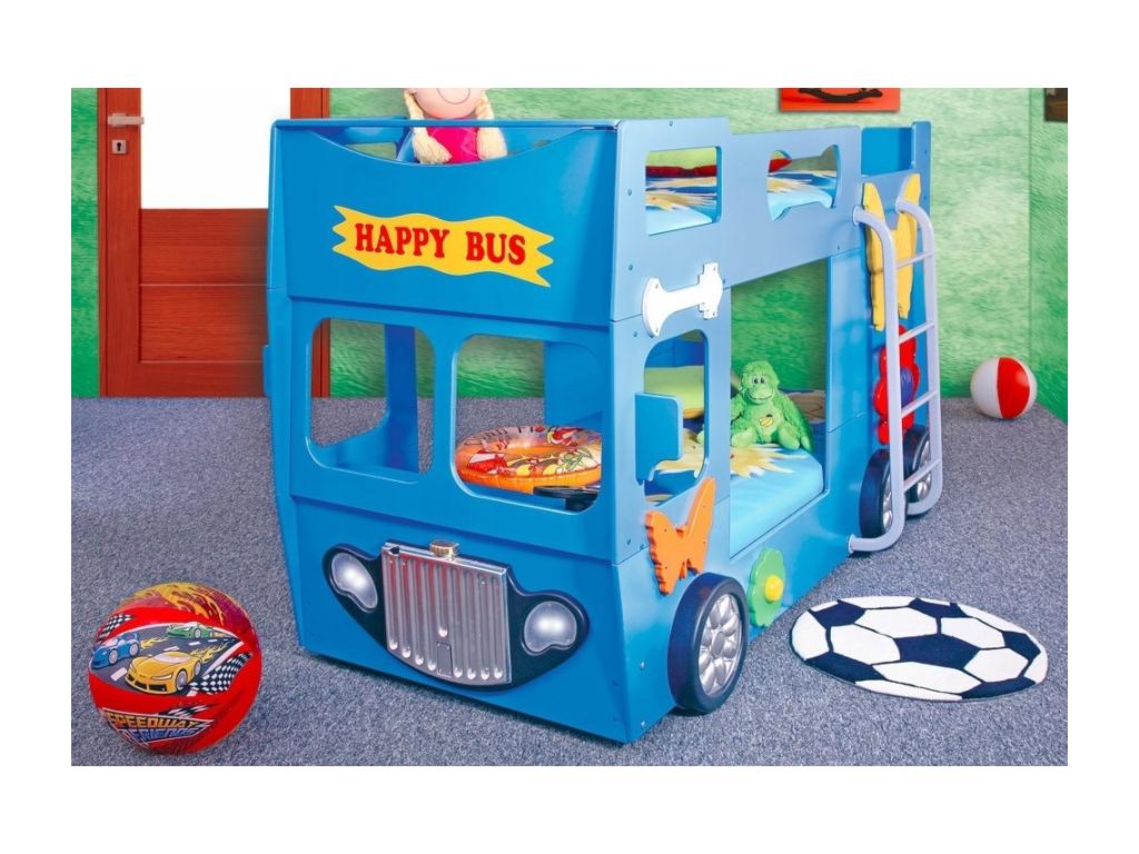 Happy bus modrý