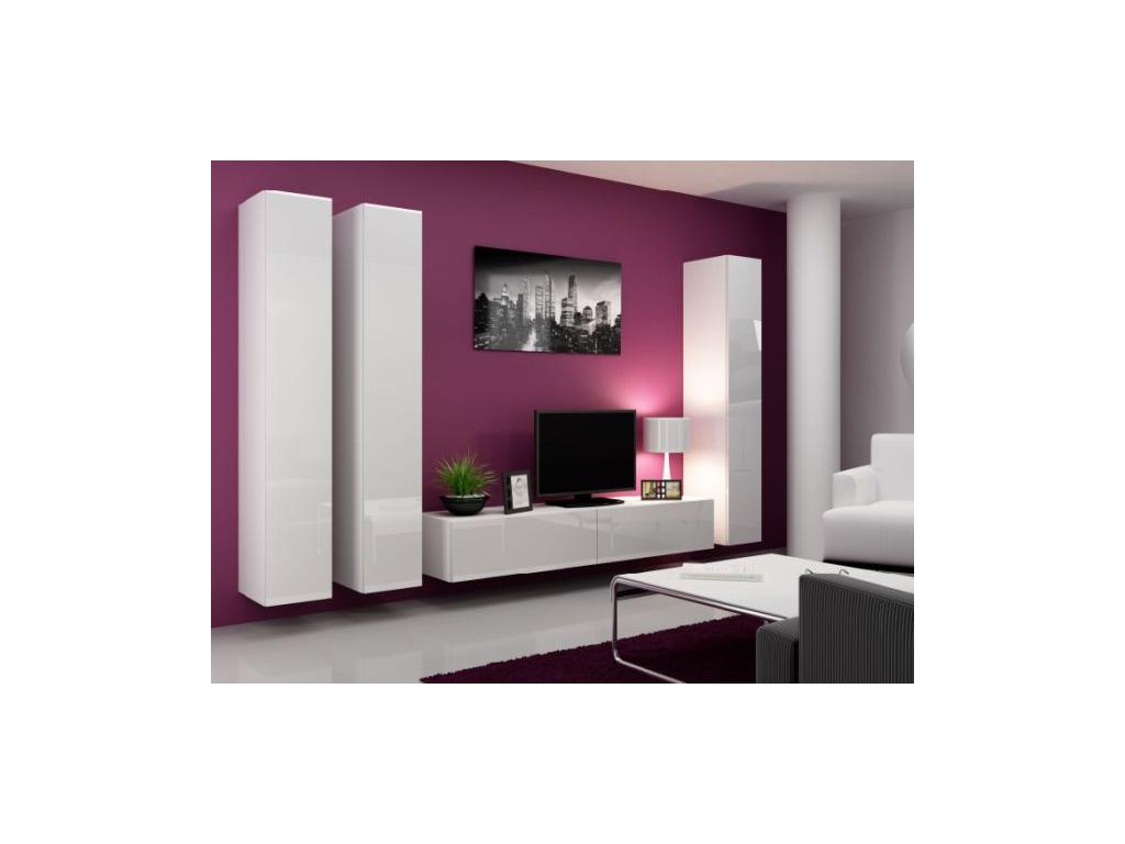 Obývacia stena Vigo I biela-biela