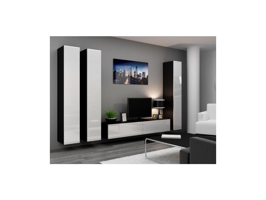 Obývacia stena Vigo I čierna biela