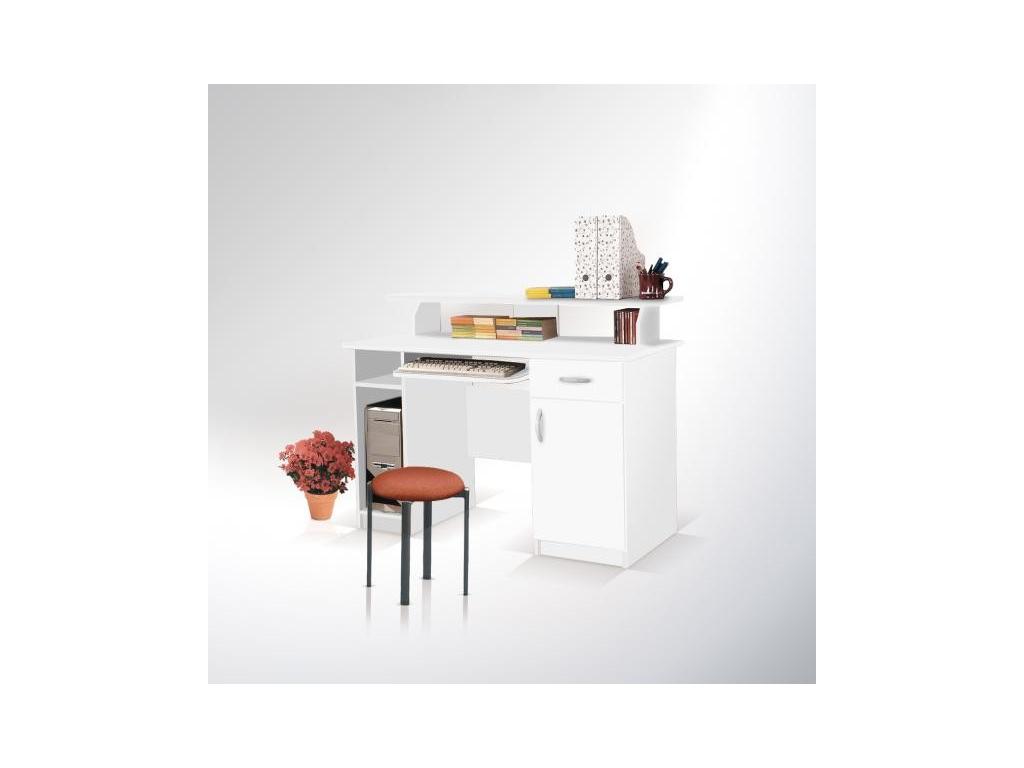 elegantný Písací stôl max biely