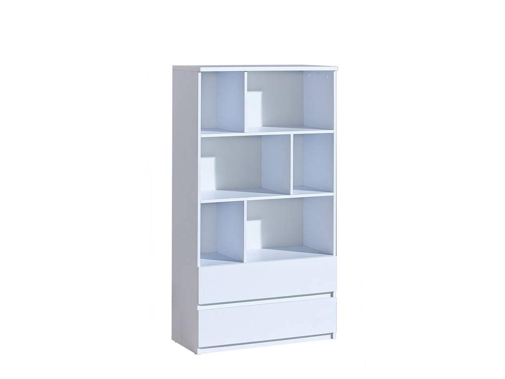 jednoduchý biely regál Arca Ar4