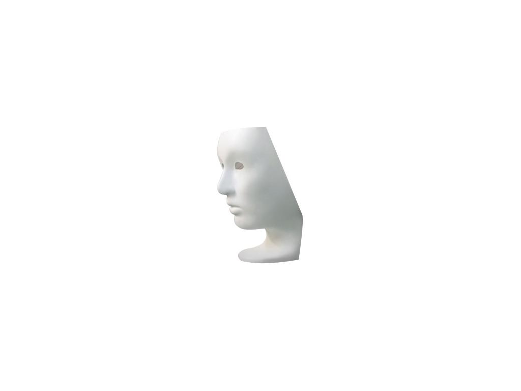 21258 kreslo nemo face chair biele