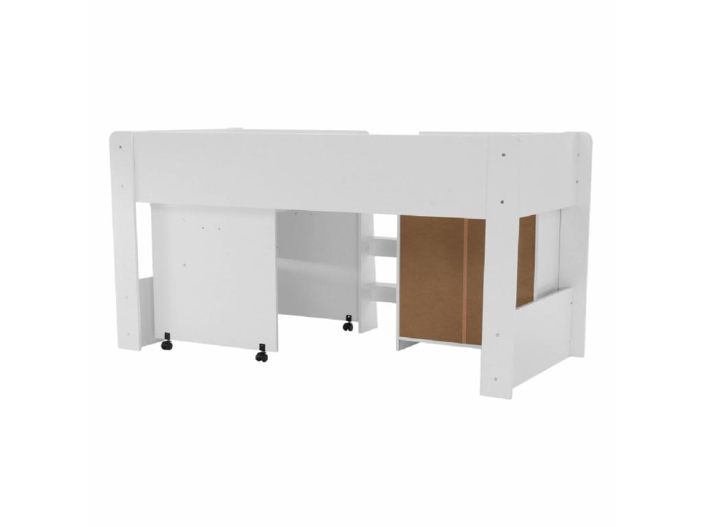 7963ebea0159 Moderná detská poschodová posteľ + stolík Unit - mojnabytok.sk