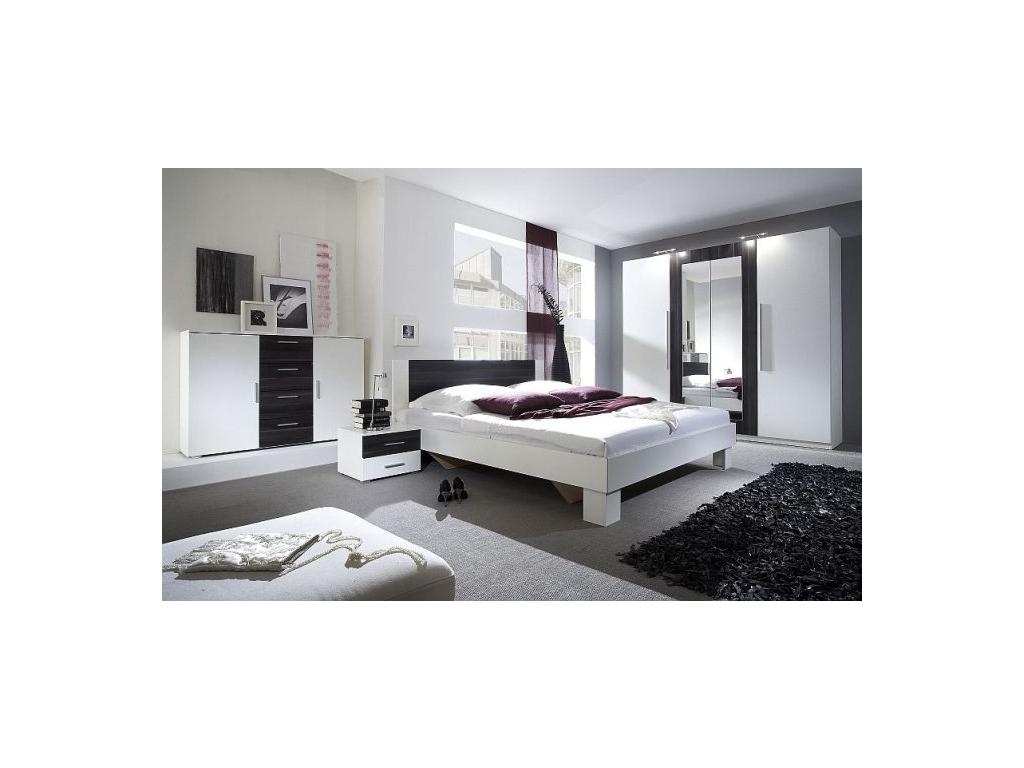Spálňa Vera  (biela / čierna)