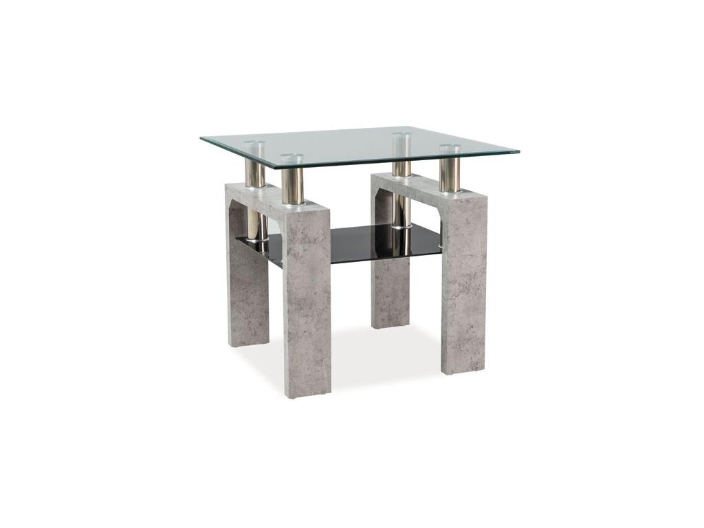 moderny konferencny stolik LISA D beton 60X60X55