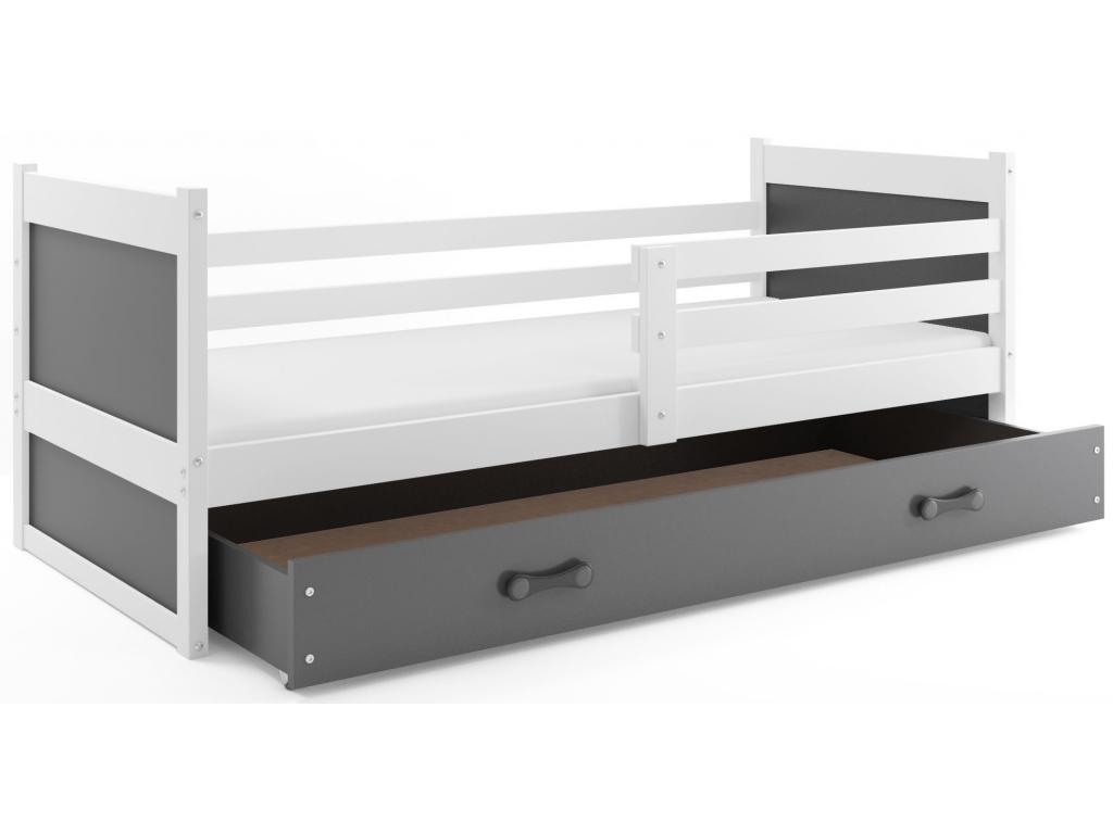 postel rico biela ,siva zásuvka