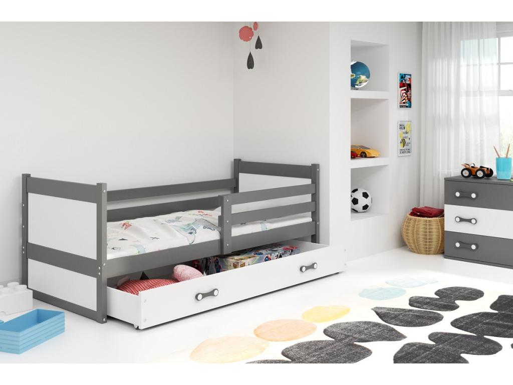 postel rico sivá, biela zásuvka