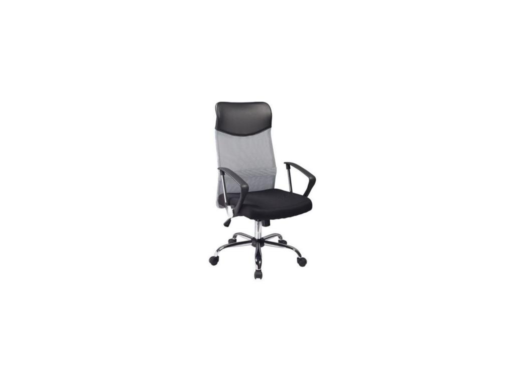 Látkové kancelárske kreslo Q v modernom sivom prevedení