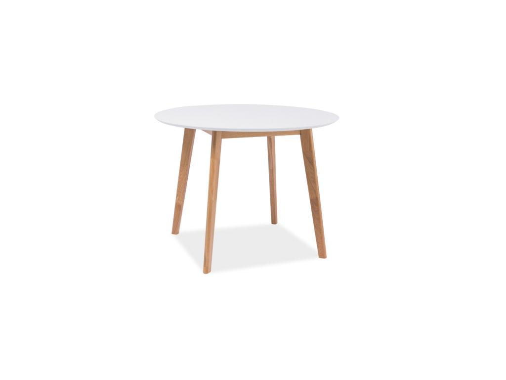 Jedálenský stôl MOSSO II / biela