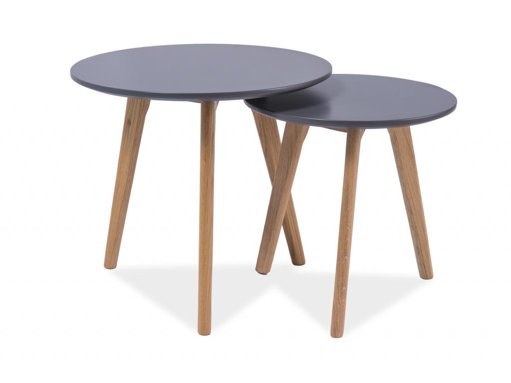 Konferenčný stolík MILAN S2 / sivá