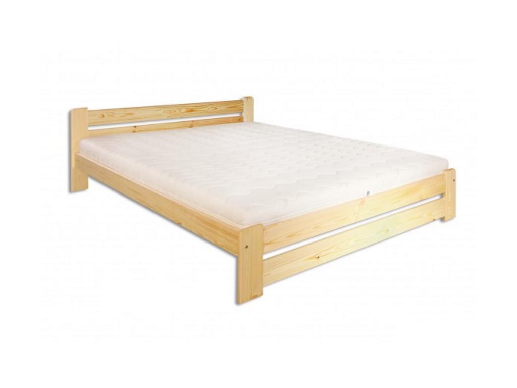 Manželská posteľ - masív LK118 / 140 cm borovica