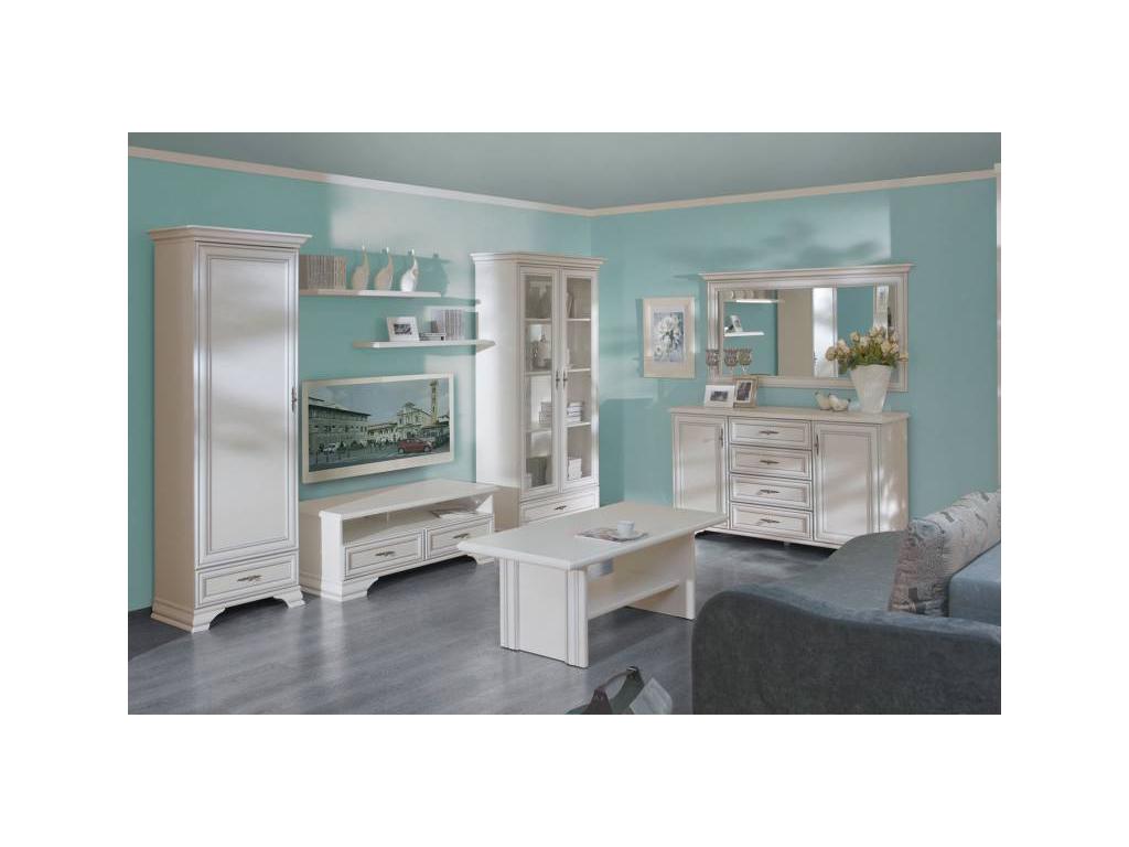 603aee5578d13 idento rustikálna šatníková skriňa idento SZF5D2S · IDENTO biela obývacia  stena · idento farba biela · idento rustikálna obývacia stena ...