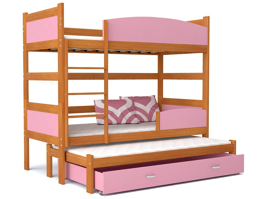 detska pochodiova postel TWIST 3 jelsa ruzova