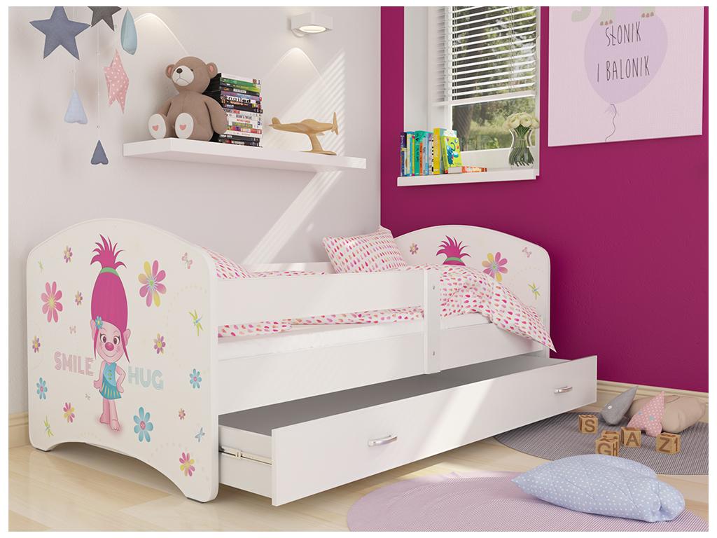 detska postel LUCKY biela 48L biela