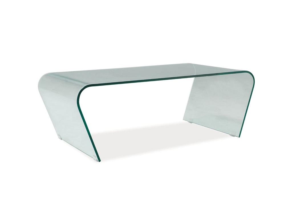 moderny skleneny konferencny stolik TESLA