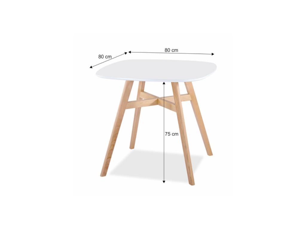 1606cdc033bd Biely jedálenský stôl Dejan - mojnabytok.sk
