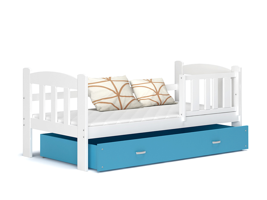 detska jednolozkova posteL TEDI biela modra
