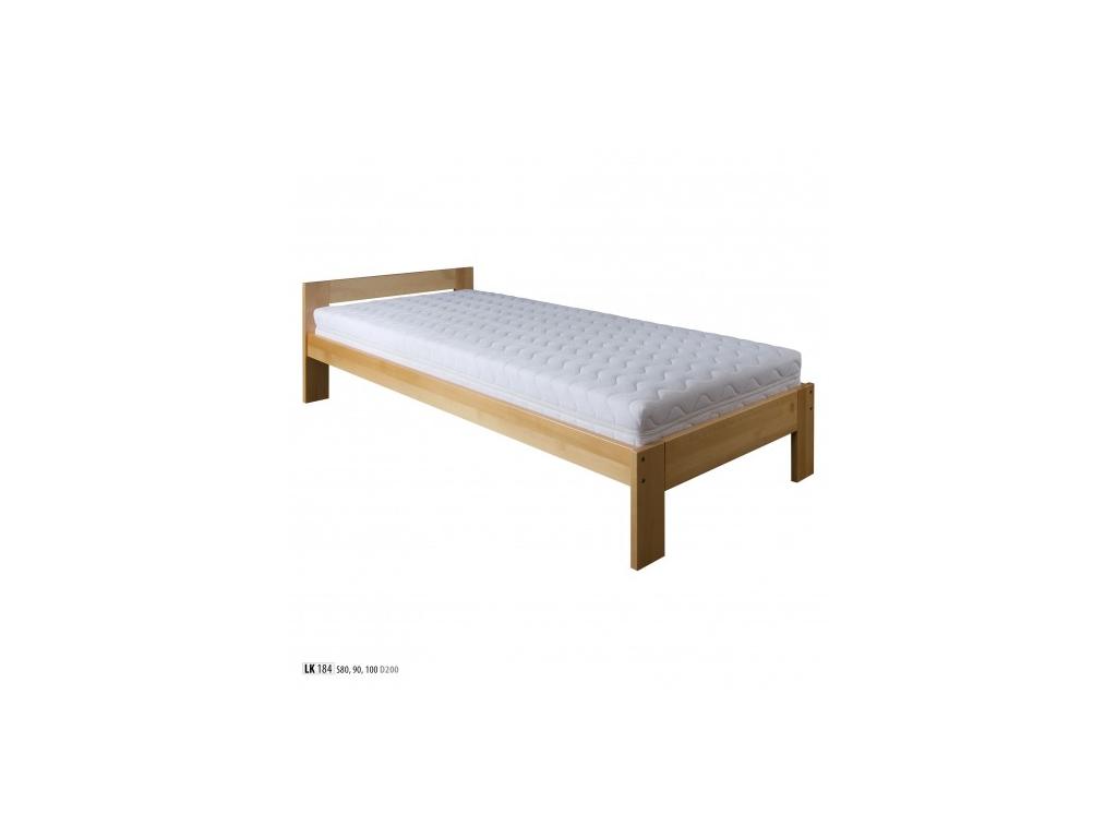 Jednolôžková posteľ - masív LK184 | 90 cm buk