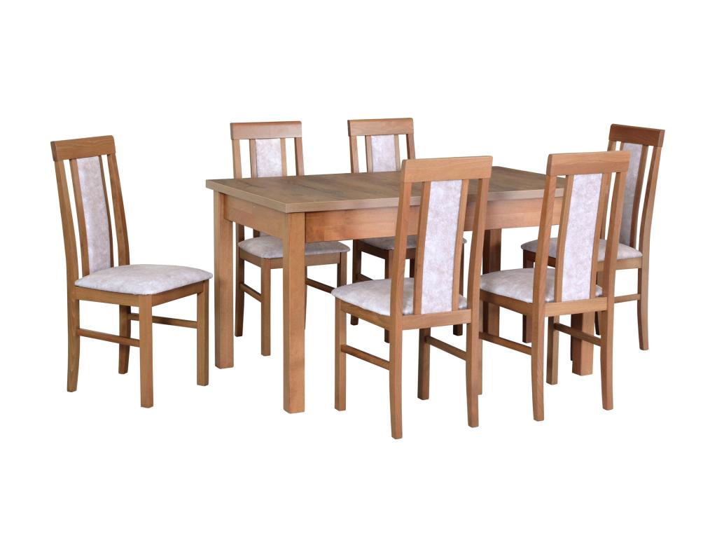 MODENA 1 NILO 2 moderny jedalensky set so stolickami