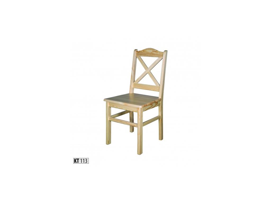 85d6420863da Vkusná jedálenská stolička - masív KT113   borovica - mojnabytok.sk
