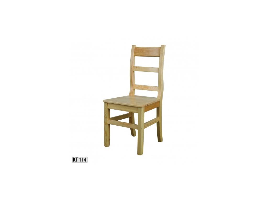7625427dba0e Pôvabná jedálenská stolička - masív KT114   borovica - mojnabytok.sk