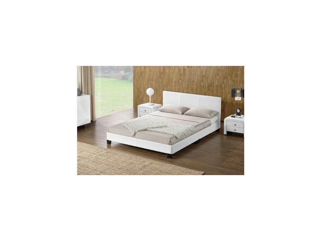 daneta biela manželská posteľ s ekokožou