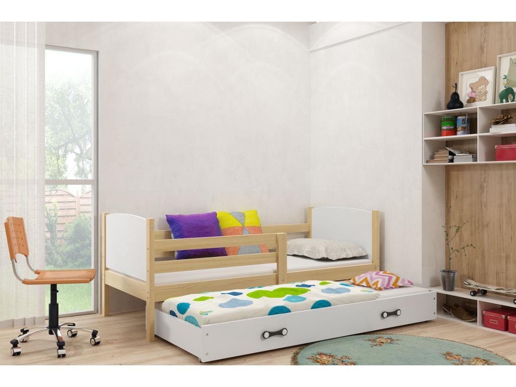 detská posteľ Tami grafit biela