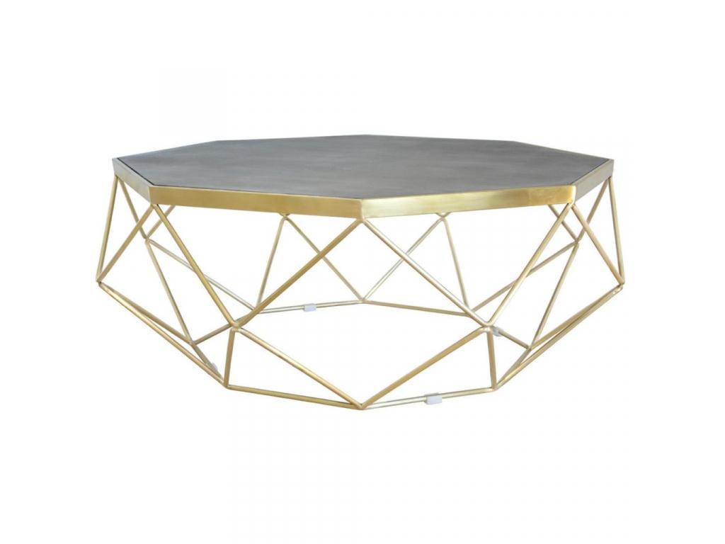 luxusny ocelovy konferencny stolik GLAMOUR GL1714