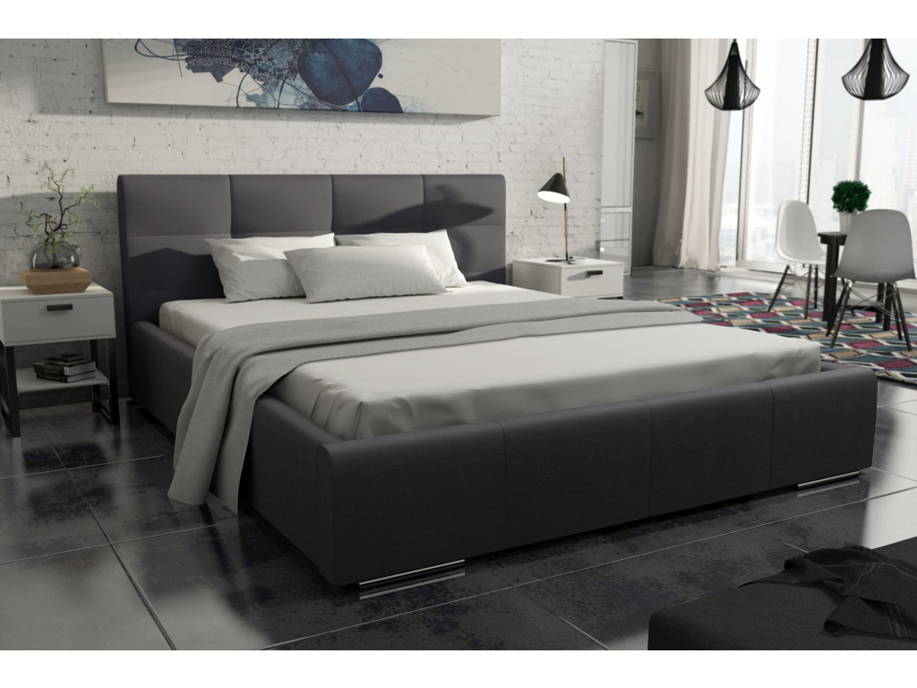komfortna calunena manzelska postel MEDIOLAN cierna latka FOCUS 20