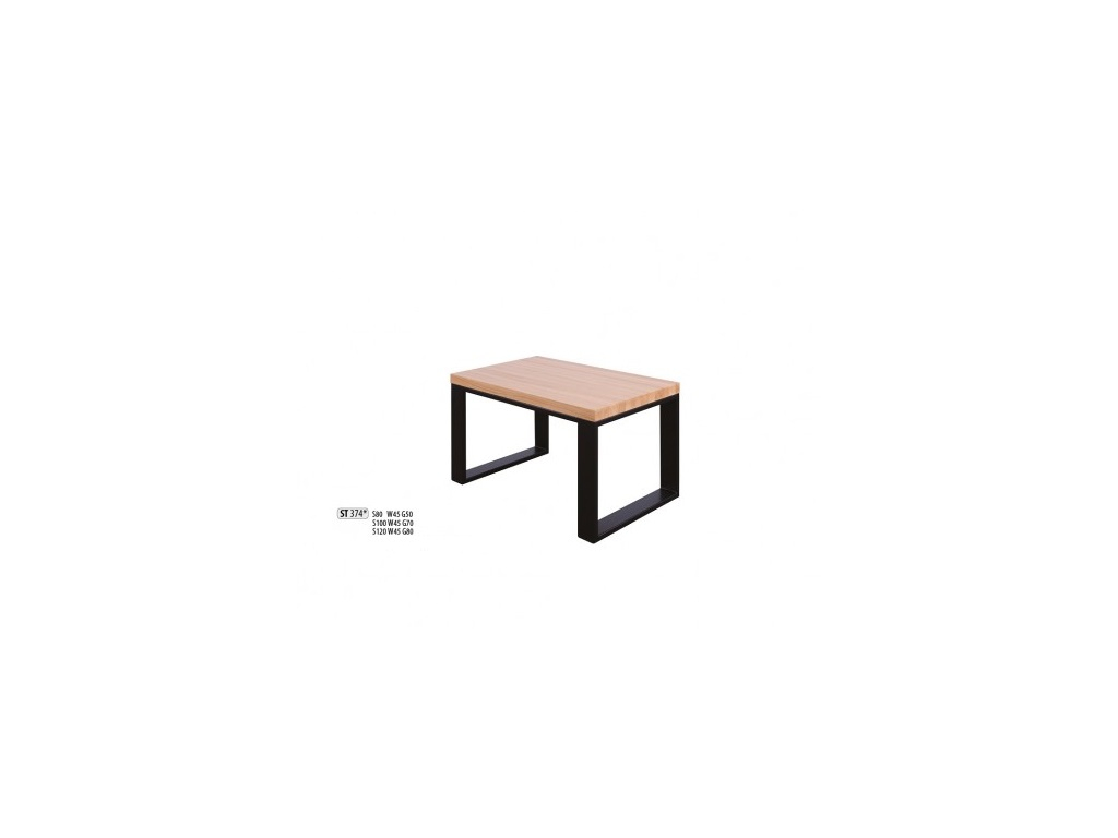 5c764c883146 Luxusný konferenčný stolík Metal ST374   dub   doska 2
