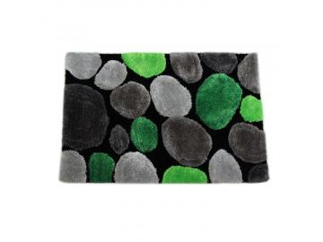 Koberec, zelená/sivá/čierna, 170x240, PEBBLE TYP 1