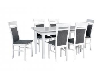 moderny biely jedalensky set WENUS 2 S MILANO 6 1+6