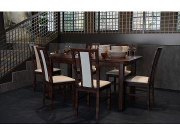moderny dreveny jedalensky set so stolickami WENUS 5 S MILANO 7 detail