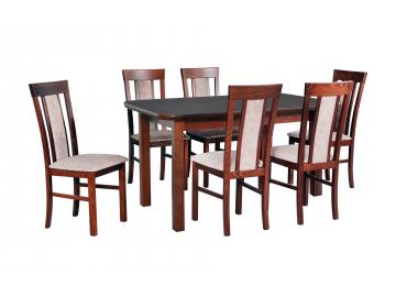 moderny dreveny jedalensky set so stolickami WENUS 5 S MILANO 8
