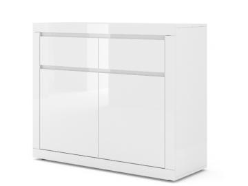 moderna biela leskla komoda COMO BIANCO 1 biely lesk
